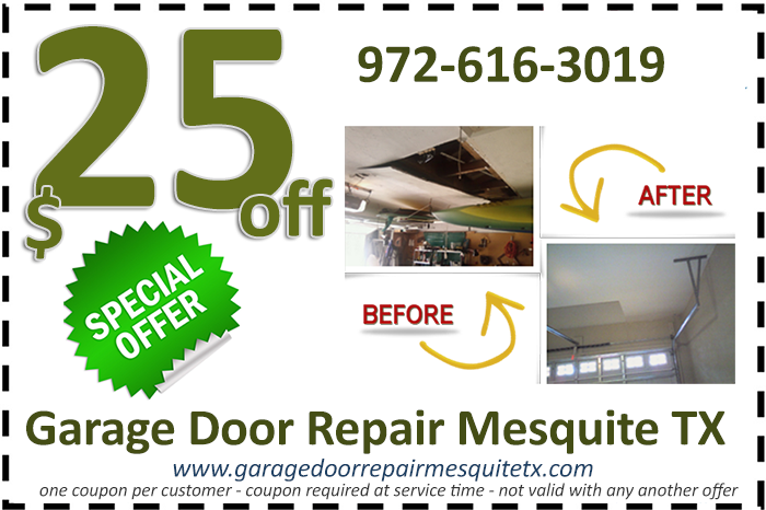 Garage Door Repair Mesquite TX Special Offers